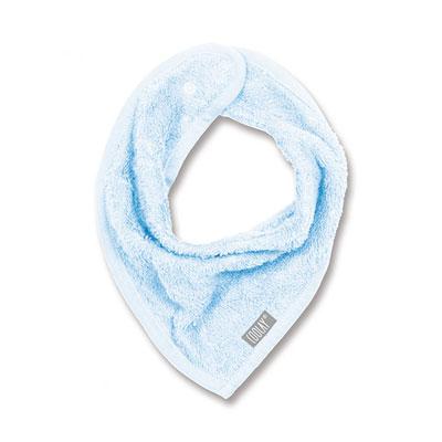 Bavoir bandana bleu Coolay