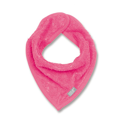 Bavoir bandana rose fushia Coolay