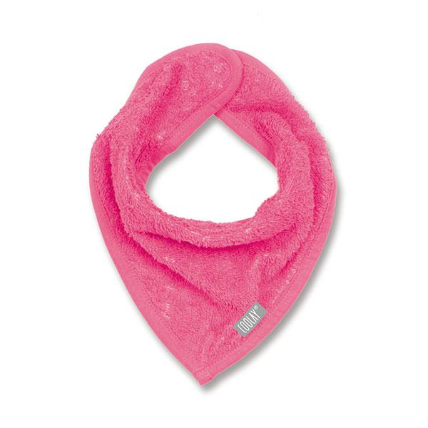 Bavoir bandana rose fushia Coolay