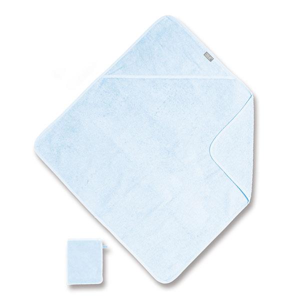 Sortie de bain 75x75cm bleu Coolay