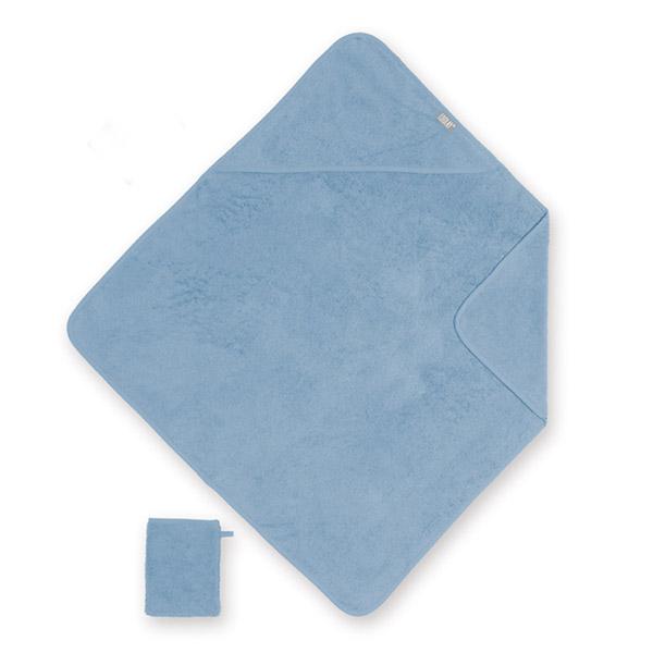 Sortie de bain bébé 75x75cm blue Coolay