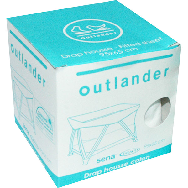 Drap housse 95 x 65 cm blanc pour lit sena Outlander