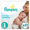 Couches new baby sensitive taille 1 (2-5 kg) 21 couches Pampers