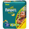Couches baby dry taille 5+ (13-27 kg) 132 couches Pampers
