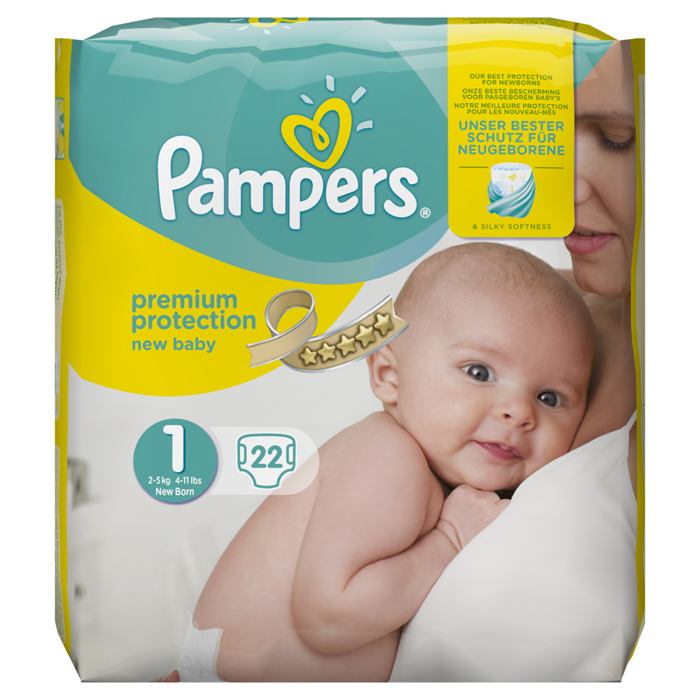 Couches premium new baby taille 1 2 5 kg 22 couches de pampers en vente chez cdm - Couche pampers new baby taille 2 ...
