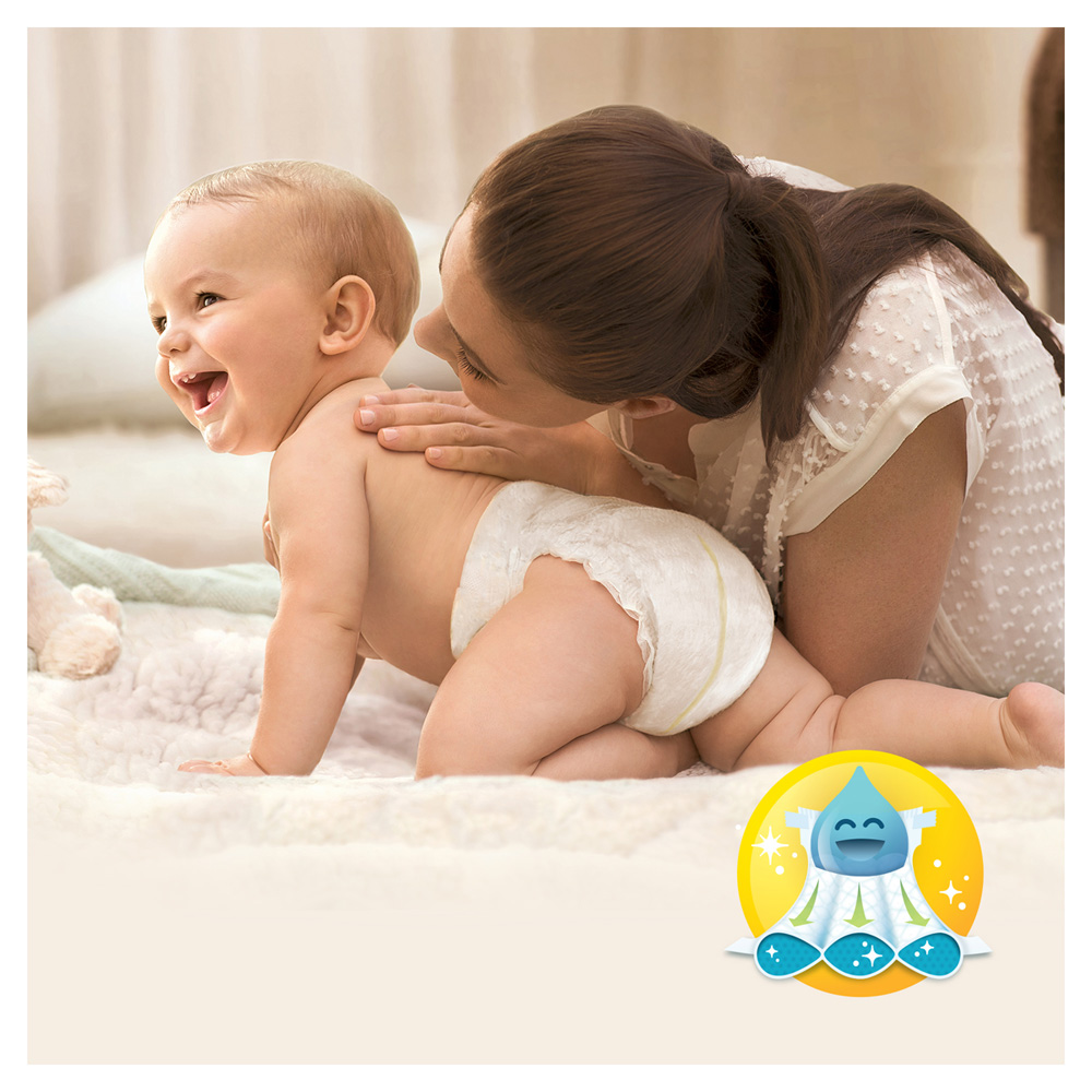 Couches premium new baby taille 2 3 6 kg 68 couches de pampers sur allob b - Couches pampers naissance ...