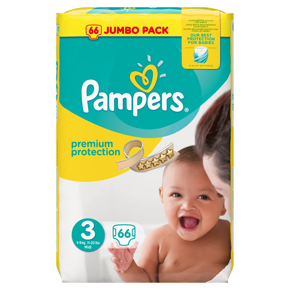 Couches premium new baby taille 3 5 9 kg 66 couches de pampers sur allob b - Couche naissance pampers ...