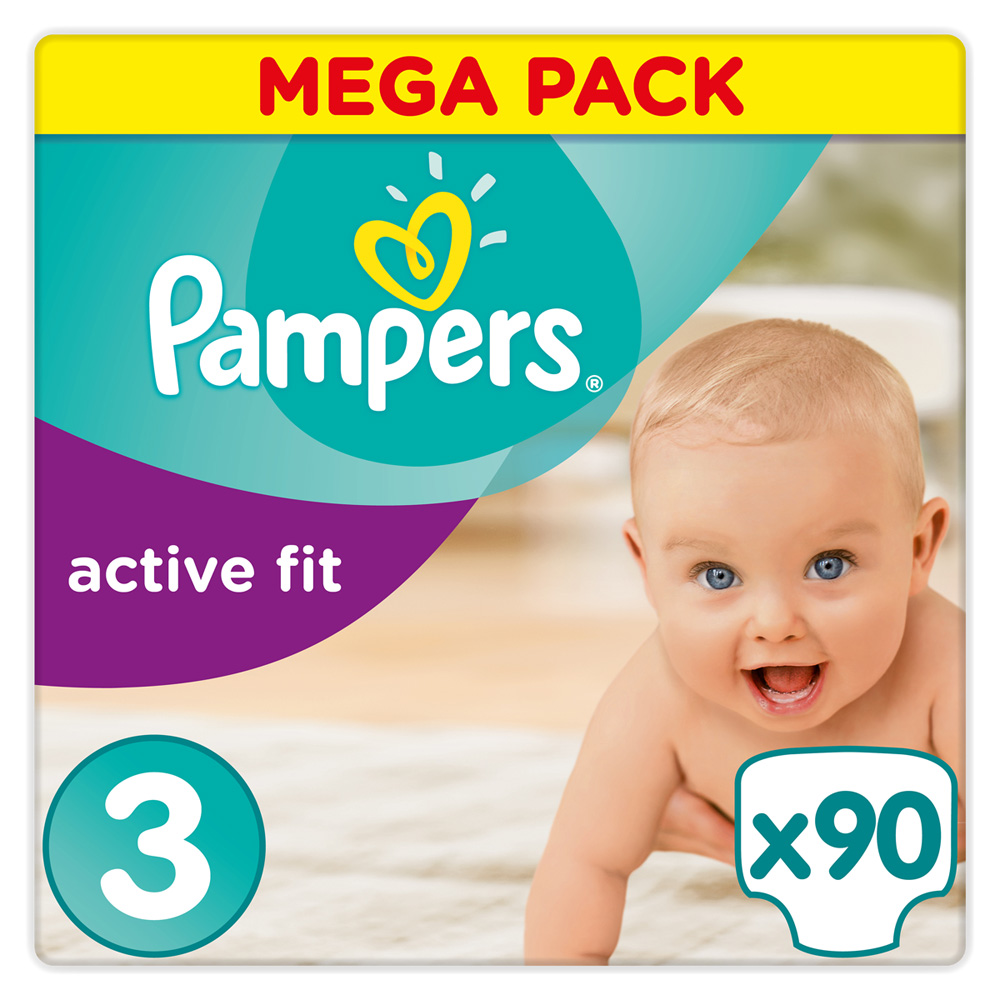 Couches premium active fit taille 3 4 9 kg 90 couches de - Couches pampers active fit taille 4 giga pack ...
