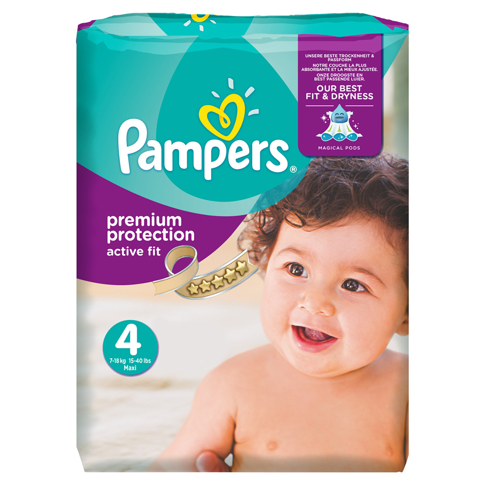 Couches Premium Active Fit Taille 4 8 16 Kg 168 Couches De Pampers
