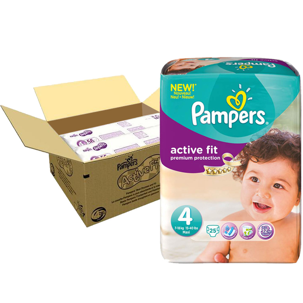Couches premium active fit taille 4 8 16 kg 168 couches de pampers sur allob b - Couches pampers active fit taille 5 ...