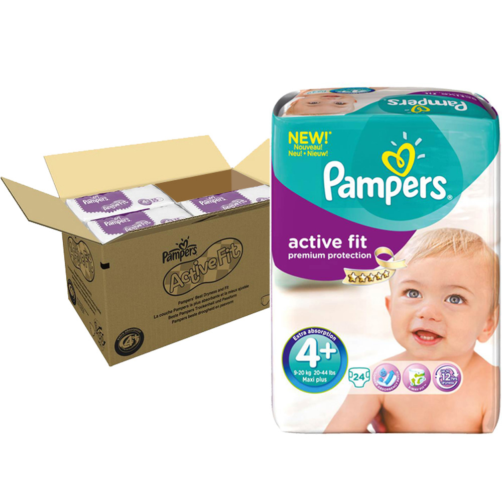 Couches premium active fit taille 4 9 18 kg 140 couches de pampers sur allob b - Couches pampers naissance ...