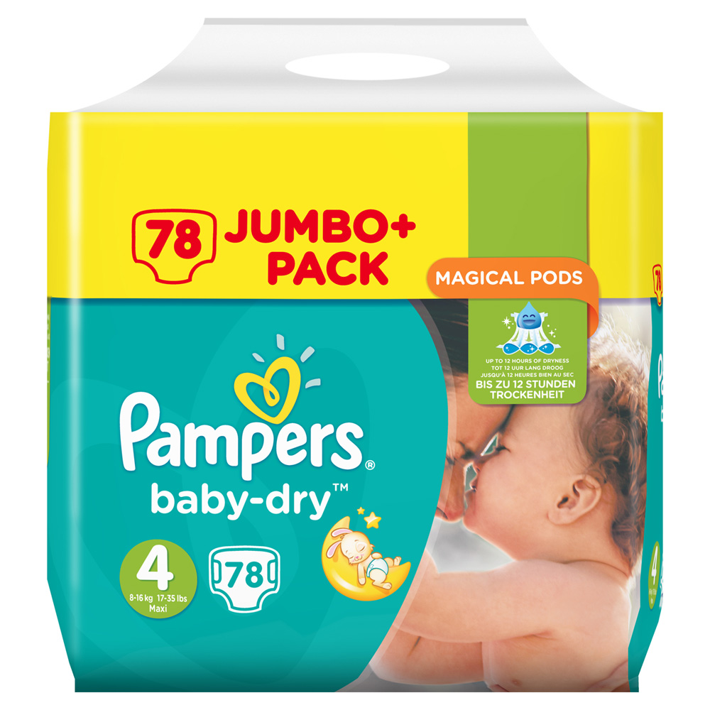 Couches baby dry taille 4 8 16 kg 78 couches de pampers - Couche pampers baby dry taille 4 ...