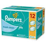 Lingettes bébé fresh clean lot de 12 paquets de 64 lingettes