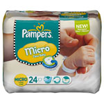 Couches new baby taille micro (1-2.5 kg) format 1 x 24 couches pas cher