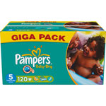 Giga pack 120 couches baby dry junior t5 (11/25 kg) pas cher