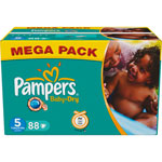 Mega pack 88 couches baby dry junior t5 (11/25 kg) pas cher