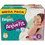 Mega pack 84 couches active fit junior t5 (11/25 kg) pas cher