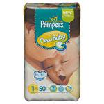 Couches new baby taille 1 (2-5 kg) format économique 1 x 50 couches pas cher
