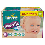 Giga pack 102 couches active fit junior t5 (11/25 kg) pas cher
