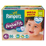 Mega pack 86 couches active fit t4 maxi (7/18 kg) pas cher