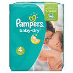 Couches baby dry t4 (7-18 kg) 1x 174 couches pas cher