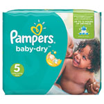 Couches baby dry t5 (11-25 kg) 1 x 144 couches pas cher