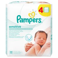 Lot de 4 paquets lingettes bébé sensitive