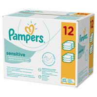 Lingettes bébé sensitive lot de 12 paquets de 56 lingettes