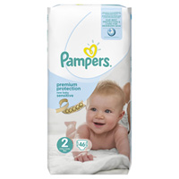 Couches new baby sensitive taille 2 (3-6 kg) 46 couches