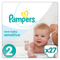 Couches new baby sensitive taille 2 (3-6 kg) 27 couches