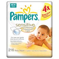 Lingettes bébé maximun care format 4 x 54 lingettes