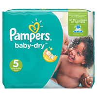 Couches baby dry taille 5 (11-25 kg) 144 couches