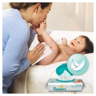 Lingettes bébé sensitive - 56 pièces Pampers