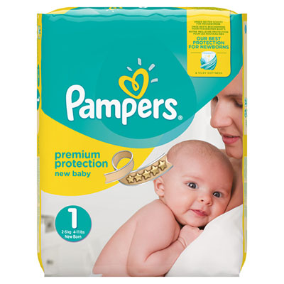 Couches premium new baby taille 1 (2-5 kg) 72 couches jumbo pack Pampers