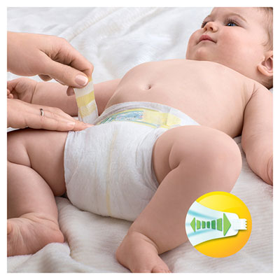 Couches premium new baby taille 1 (2-5 kg) 22 couches Pampers
