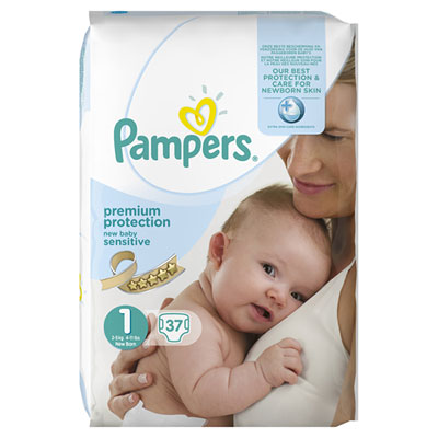Couches new baby sensitive taille 1 geant (2-5 kg) 37 couches Pampers