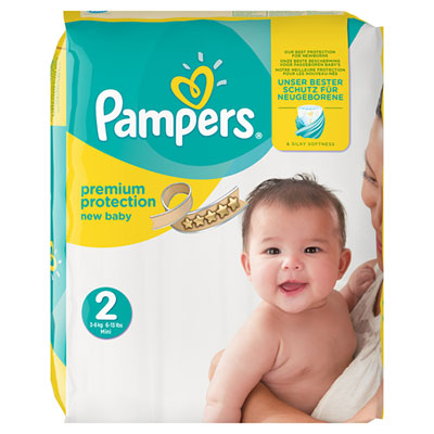 Couches premium new baby sensitive taille 2 (3-6 kg) 240 couches Pampers