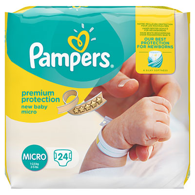 Couches premium new baby taille 0 (1-2,5 kg) 24 couches Pampers