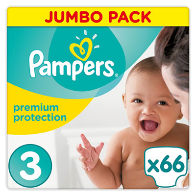 Couches premium new baby taille 3 (5-9 kg) 66 couches Pampers