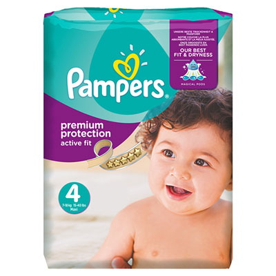Couches premium active fit taille 4 8 16 kg 168 couches de pampers sur allob b - Couche naissance pampers ...