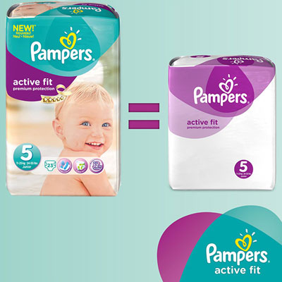 Couches premium active fit taille 5 (11-23 kg) 136 couches Pampers
