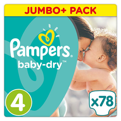 Couches baby dry taille 4 (8-16 kg) 78 couches Pampers