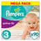 Couches premium active fit taille 3 (4-9 kg) 90 couches Pampers