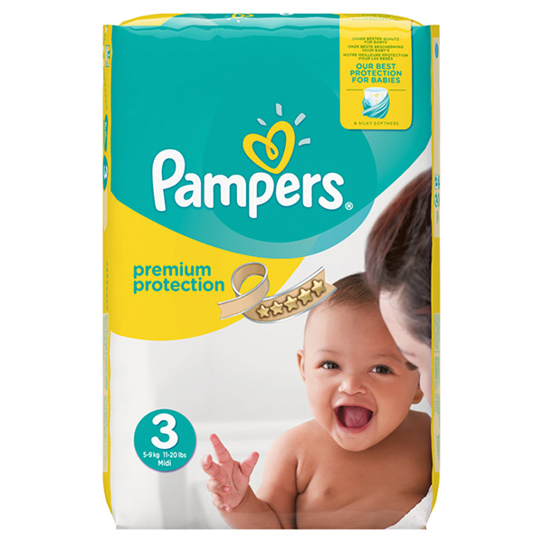 Couches new baby taille 3 (5-9 kg) 204 couches Pampers