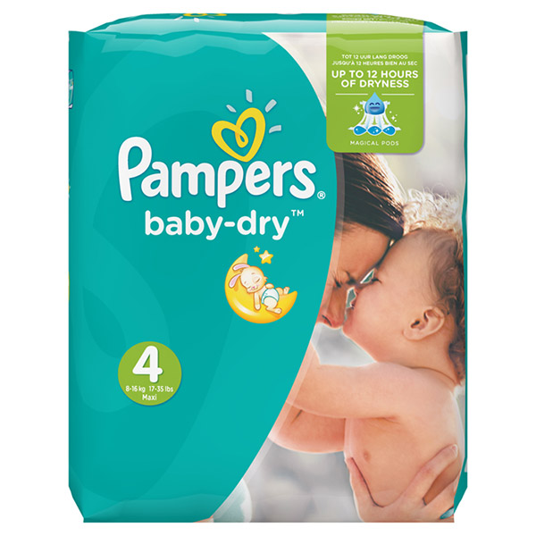 Couches baby dry taille 4 (7-18 kg) 174 couches Pampers