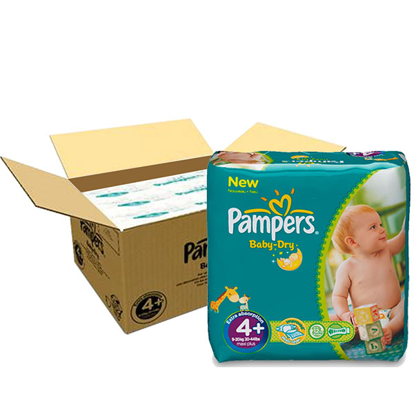 Couches baby dry taille 4+ (9-20 kg) 152 couches Pampers