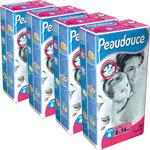 Carton de 4 paquets peaudouce t4 8/14 kg de 54 couches pas cher