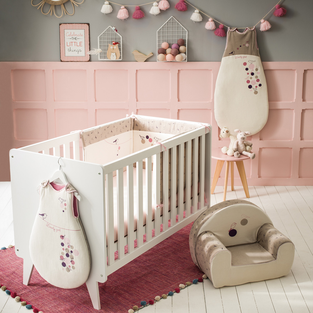tour de lit birdy girl de babycalin sur allob b. Black Bedroom Furniture Sets. Home Design Ideas