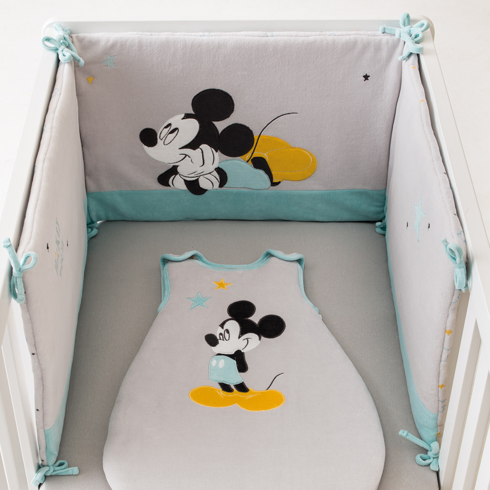 tour de lit mickey my story de babycalin sur allob b. Black Bedroom Furniture Sets. Home Design Ideas