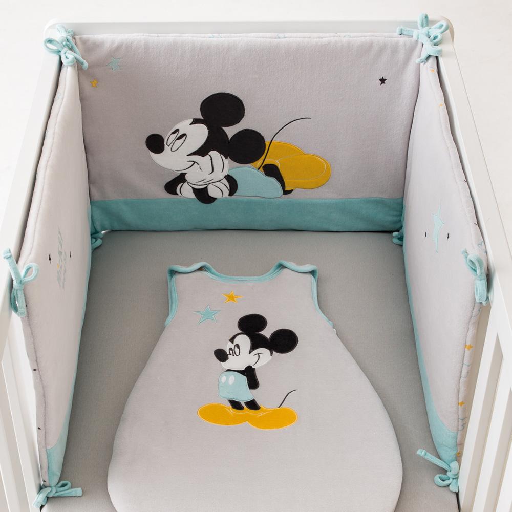 tour de lit mickey my story de babycalin sur allob b. Black Bedroom Furniture Sets. Home Design Ideas